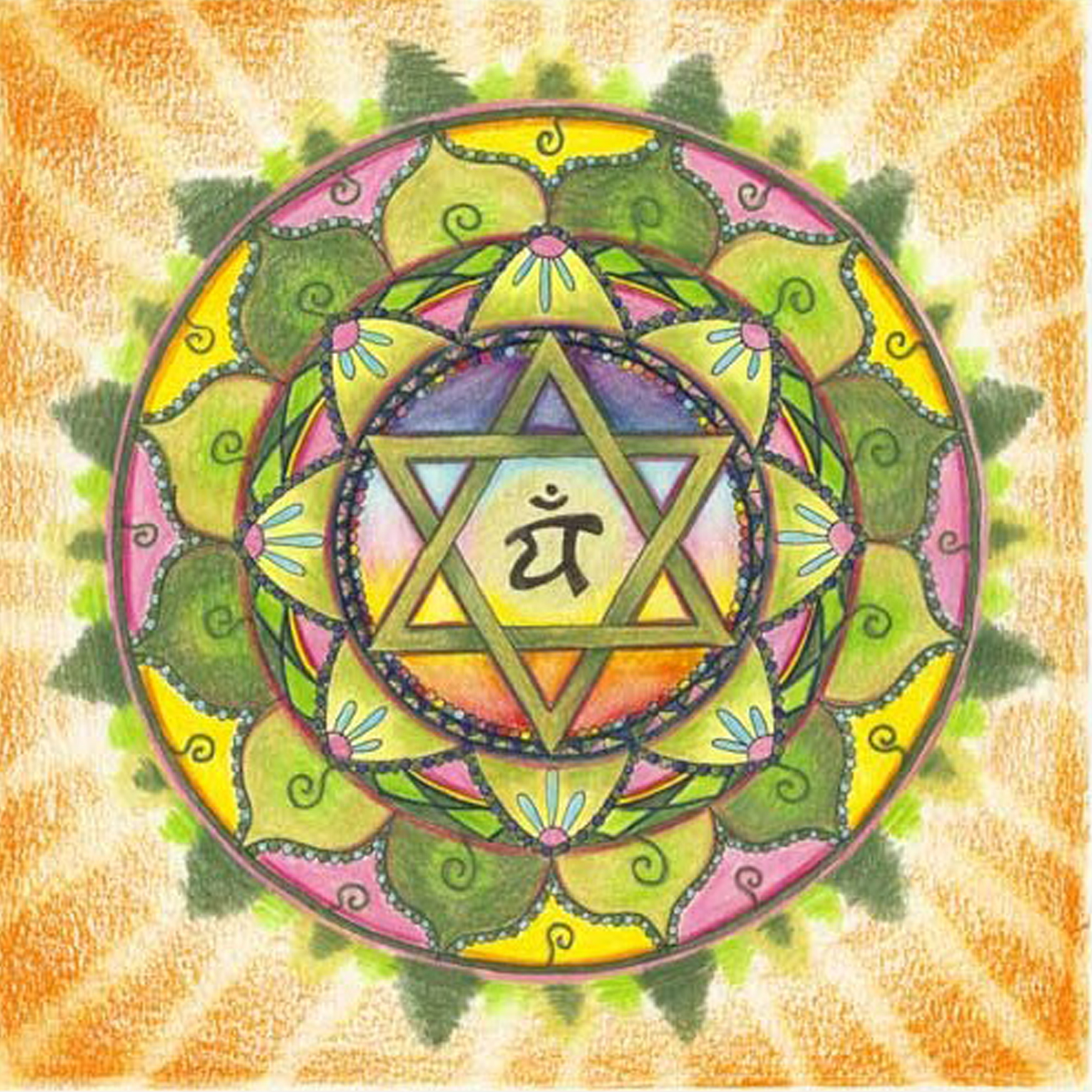 Heart Chakra Mandala Coloring Page Images amp Pictures Becuo